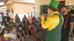 Farmacêutico leva alegria e orientação sobre remédios na vila dos Oleiros em Boa Vista
