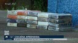 Homem é preso com 20 tabletes de cocaína na BR-267 em Juiz de Fora