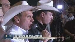 Em visita a Barretos, João Dória anuncia repasse de R$ 6 milhões para a cidade