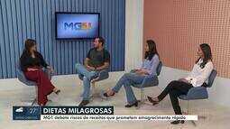 Debate Inter TV aborda os riscos de dietas milagrosas
