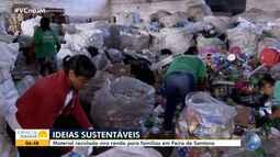 Cooperativa recolhe material reciclável e garante renda de famílias em Feira de Santana