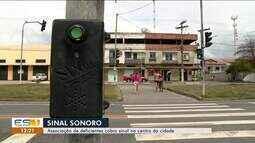 Associação de Deficientes cobra sinal de trânsito no Centro de Linhares, ES