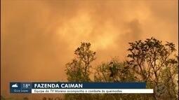 Incêndio destrói 35 mil hectares de fazenda no Pantanal de MS