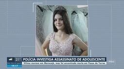 Menina de 14 anos foi morta com mais de 40 facadas, diz IGP; polícia investiga