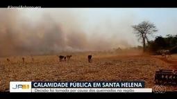 Prefeitura de Santa Helena de Goiás decreta estado de calamidade por causa de queimadas
