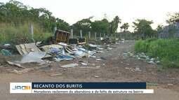 Moradores do Recanto dos Buritis sofrem com lixo, insegurança e falta de iluminação