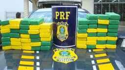 PRF apreende mais de 60 quilos de cocaína na BR-317