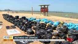 Voluntários fazem mutirão de limpeza e recolhem lixo de praias de Vitória
