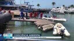 Voluntários retiram lixo de quatro praias de Vitória
