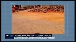 Morador reclama de obra em Formiga