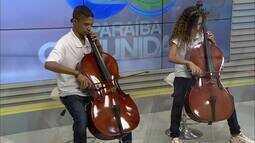 Jovens estudam música em João Pessoa no projeto Ação Social pela Música
