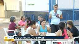 Idosos participam de jogos da melhor idade em Santarém