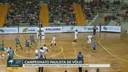 Taubaté vence o Vôlei Ribeirão no 1º jogo das quartas de final do Campeonato Paulista