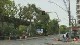 Obras seguem na Avenida Francisco Salles, em Poços de Caldas