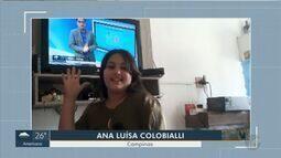 Crianças dão 'boa tarde' no EPTV1