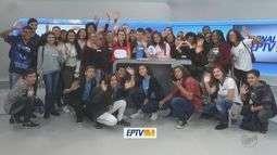 EPTV na Escola recebe alunos de Américo Brasiliense