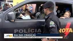 Policiais comemoram Dia das Crianças com estudantes da Grande Goiânia