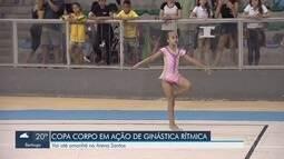 Copa Corpo em Ação tem apresentações de ginástica rítmica na Arena Santos