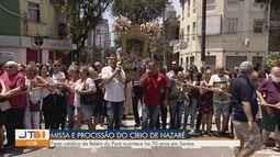 Devotos participam de missa e procissão do Círio de Nazaré em Santos