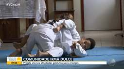 Projeto oferece atividades gratuitas para crianças da Comunidade Irmã Dulce, em Feira