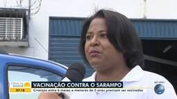 Saúde: Dia D de vacinação contra o sarampo é realizado em Salvador no sábado