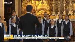 Catedral Basílica recebe coral formado por crianças mineiras em homenagem a Santa Dulce
