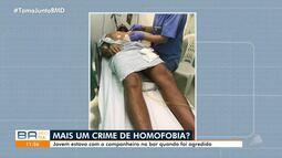 Homofobia: jovem é agredido por três homens quando estava em bar com um companheiro