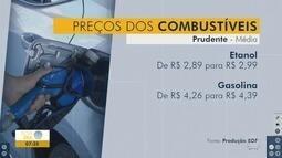Combustíveis têm aumento de preço em Presidente Prudente