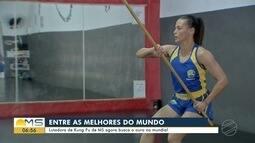 Lutadora de Kung Fu de MS conquista bronze em Mundial na China
