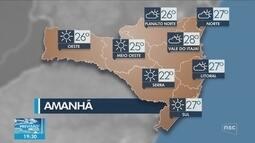 Veja como ficará o tempo em todas as regiões de SC nesta sexta (6)