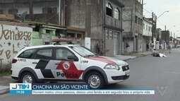 Homem mata cinco pessoas em São Vicente e tira a própria vida em seguida