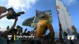 Gabriel Medina é superado por Ítalo na final e fica com vice no Munidal de Surfe