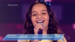 Duda Alves canta 'Ainda Bem' nas Audições às Cegas