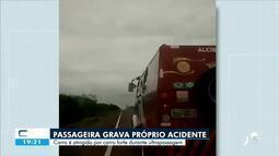 Passageira filma próprio acidente na BR 020