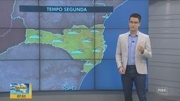 Confira a previsão do tempo para Santa Catarina nesta segunda-feira de carnaval