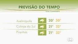 Confira a previsão do tempo em Goiás