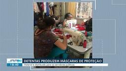 Detentas de Roraima produzem máscaras de proteção