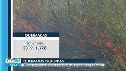 Balanço mostra que diminuiu o número de queimadas em Cachoeiro, ES