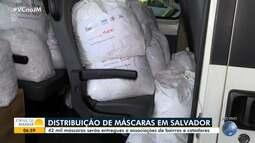 Associações de bairros e cooperativas de catadores recebem doação de máscaras