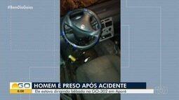 Preso suspeito de dirigir bêbado em Aporé