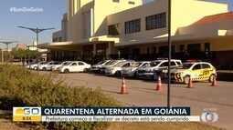 Fiscais observam se comerciantes estão respeitando decreto em Goiânia