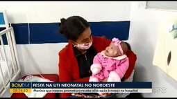 Menina que nasceu prematura recebe alta após 6 meses no hospital