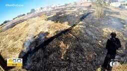 Mais um ponto de queimada na Grande Goiânia