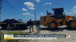 Grupo é preso por extração de areia sem autorização