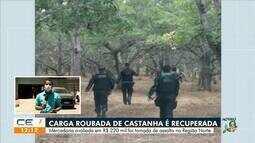 Polícia recupera carga de 57 toneladas de castanha em Marco, no interior do Ceará