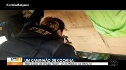 PRF apreende 100 kg de cocaína em Goiás