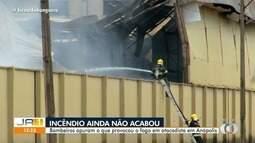 Incêndio de grandes proporções destrói 12 mil m² de centro de distribuição, em Anápolis