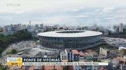 Torcedores do Bahia celebram bom desempenho do time em jogos na Arena Fonte Nova
