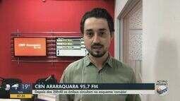 Ônibus em Araraquara circulam no 'esquema corujão'