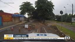 Carro BDG mostra buracos no setor Pedro Ludovico em Goiânia